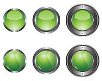 Six green buttons Royalty Free Stock Image