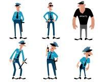 Six guards set Stock Images