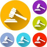 Six hammer icons Royalty Free Stock Images