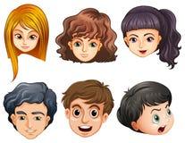 Six heads Stock Image