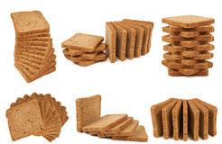 Six heaps of bread Royalty Free Stock Images