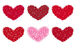 Six hearts Stock Images