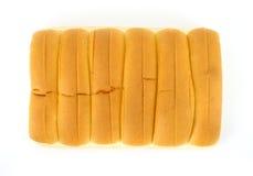 Six hot dog buns Stock Photography