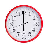 Six hours on a round dial Royalty Free Stock Image