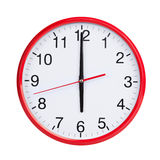 Six hours on a round dial Royalty Free Stock Photos