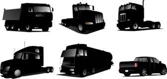 Six  illustration of trucks Stock Image