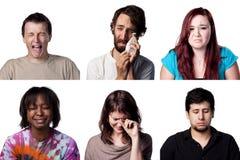 Six images tristes photo libre de droits