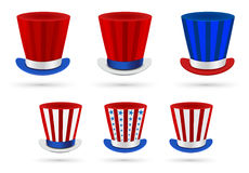 Six independence day hats Stock Image