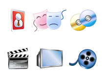 Six Internet Icons Stock Images