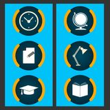 Six items related to education Stock Image