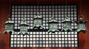 Six japanese lanterns Royalty Free Stock Image