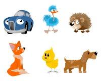 Six jouets réglés Images libres de droits