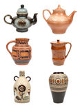 Six jugs Royalty Free Stock Images