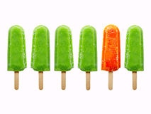 Six juice ice creams Royalty Free Stock Photos
