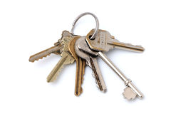 Six Keys on a Ring Royalty Free Stock Photography