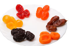 Six kinds of Dried fruit Royalty Free Stock Image