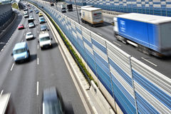 Six lane controlled-access highway in Poland Royalty Free Stock Photos
