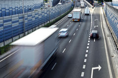 Six lane controlled-access highway in Poland Stock Photography