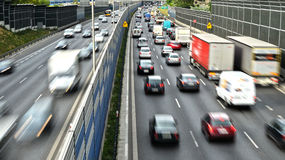 Six lane controlled-access highway in Poland Stock Photos