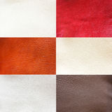 Six leathers Royalty Free Stock Images