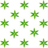 Six leaves pattern Stock Photography