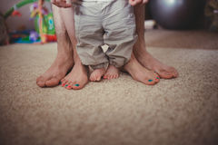 Six legs feet, family concept. Stock Images