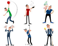 Six leisure games. Vector illustration of a six leisure games Stock Photography
