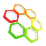 Six levels of energy efficiency as hexagons isolated Stock Photo