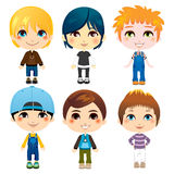 Six Little Boys Stock Photos