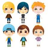 Six Little Boys Stock Photos