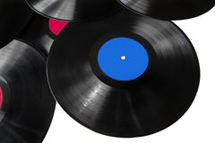 Six lps records. Records American recording label Music Entertainment Music Group enterprise American Graphophone Company record records Stock Photography