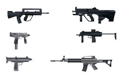Six machine guns Royalty Free Stock Photos