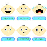Childrens emotions Stock Images