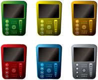 Six media players Royalty Free Stock Photography
