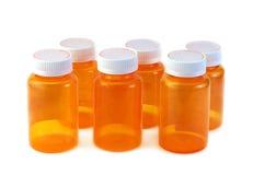 Six medicine bottles Royalty Free Stock Photo