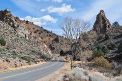 Six Mile Canyon. Road from Virginia City, Nevada Stock Photos