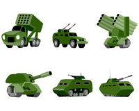 Six military vehicle. Vector illustration of a six military vehicle Royalty Free Stock Photo