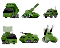 Six military vehicle. Vector illustration of a six military vehicle Stock Image