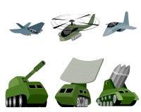Six military vehicle Royalty Free Stock Image