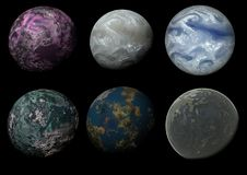 Six mondes Images stock