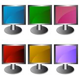 Six monitors in  Royalty Free Stock Images