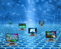 Six monitors Stock Image