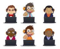 Six monkey business Royalty Free Stock Photo