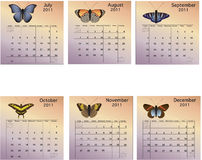 Six Month 2011 Calendar Stock Image