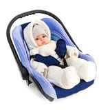 Six-month baby in a Car Seat Royalty Free Stock Photos
