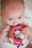 Six month Baby chewing toy Stock Photography
