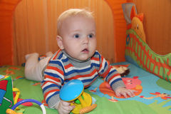 Six month old baby boy Stock Photo