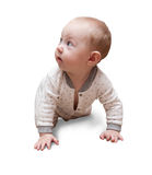 Six month old baby on the carpet Stock Photography