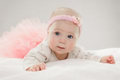 Six Month Old Caucasian Baby Girl Royalty Free Stock Photography