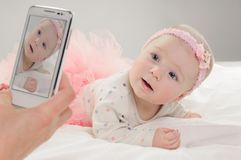 Six month old caucasian baby girl Stock Image